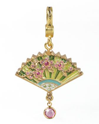 Chinoiserie Fan Charm by Jay Strongwater at Neiman Marcus.