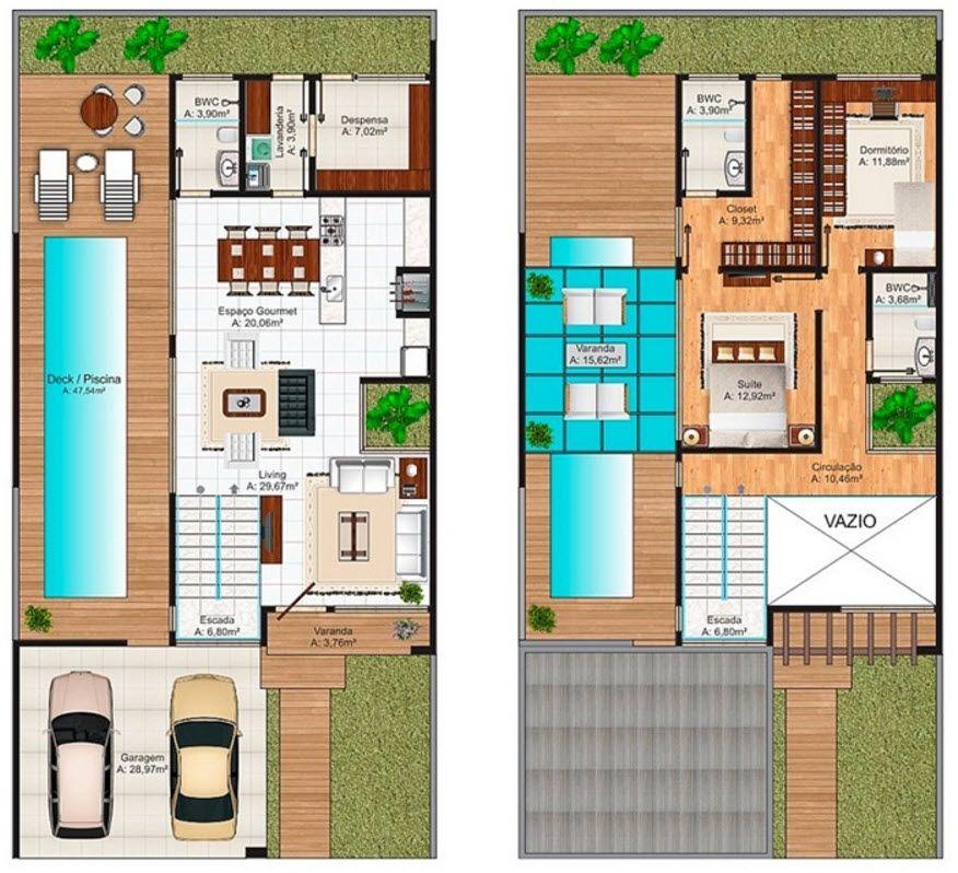 Diseño casa moderna de dos pisos, hermosa fachada combina elementos