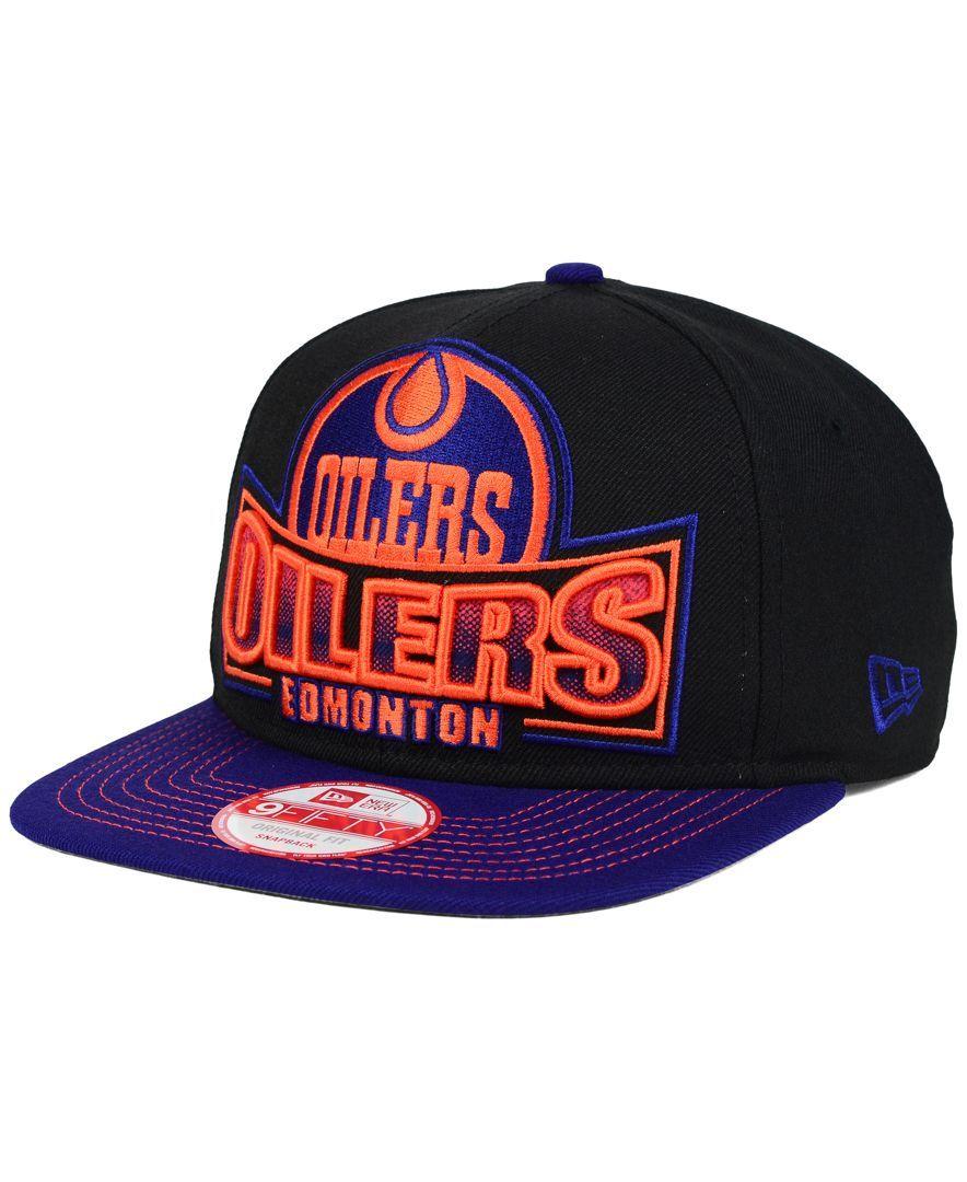 New Era Edmonton Oilers Grader 9fifty Snapback Cap Sports Fan Shop By Lids Men Macy S Oilers Edmonton Oilers Snapback