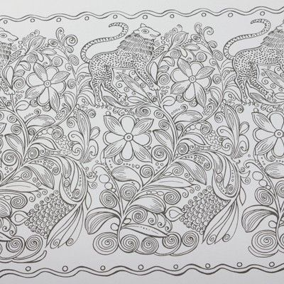 Mexican art coloring pages more views