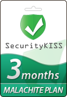 SecurityKiss VPN MALACHITE Plan, 3 Months - SecurityKiss VPN allows you adjust your Geo-Location while encrypting your Internet traffic at the click of a button. More Information visit http://www.pcgamesupply.com/buy/Security-Kiss-VPN-MALACHITE-Plan/