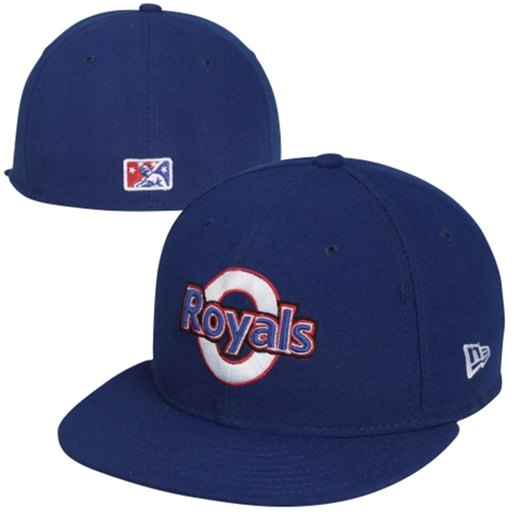 new era omaha royals 59fifty fitted hat royal blue