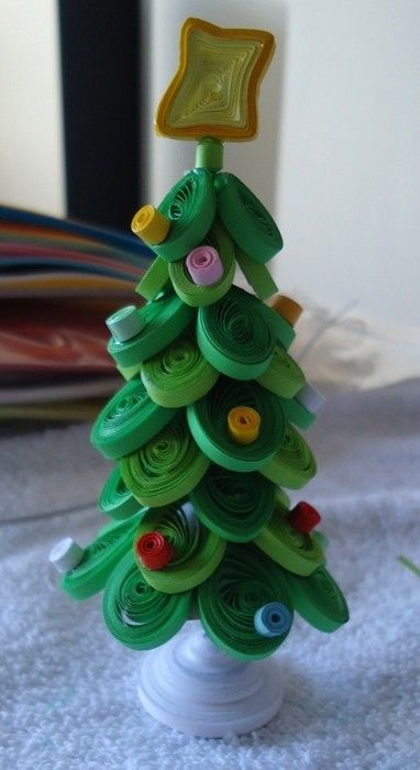 2014 Paper Craft Quilling Christmas Tree Ideas Handmade Christmas