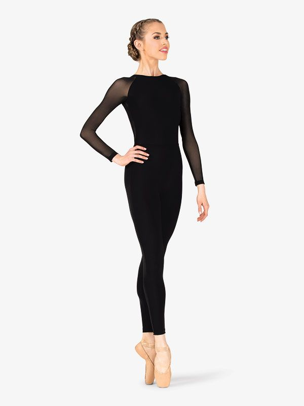 Womens in 2020 | Mesh long sleeve, Dance unitard, Fashion
