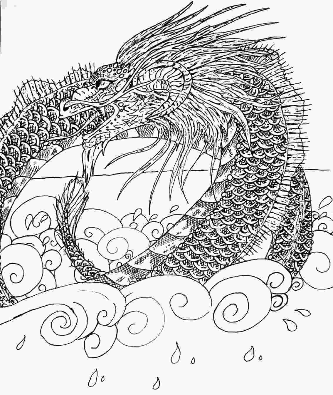 Sea Serpent Coloring Pages Coloring Pages Sea Serpent Dragon Coloring Page