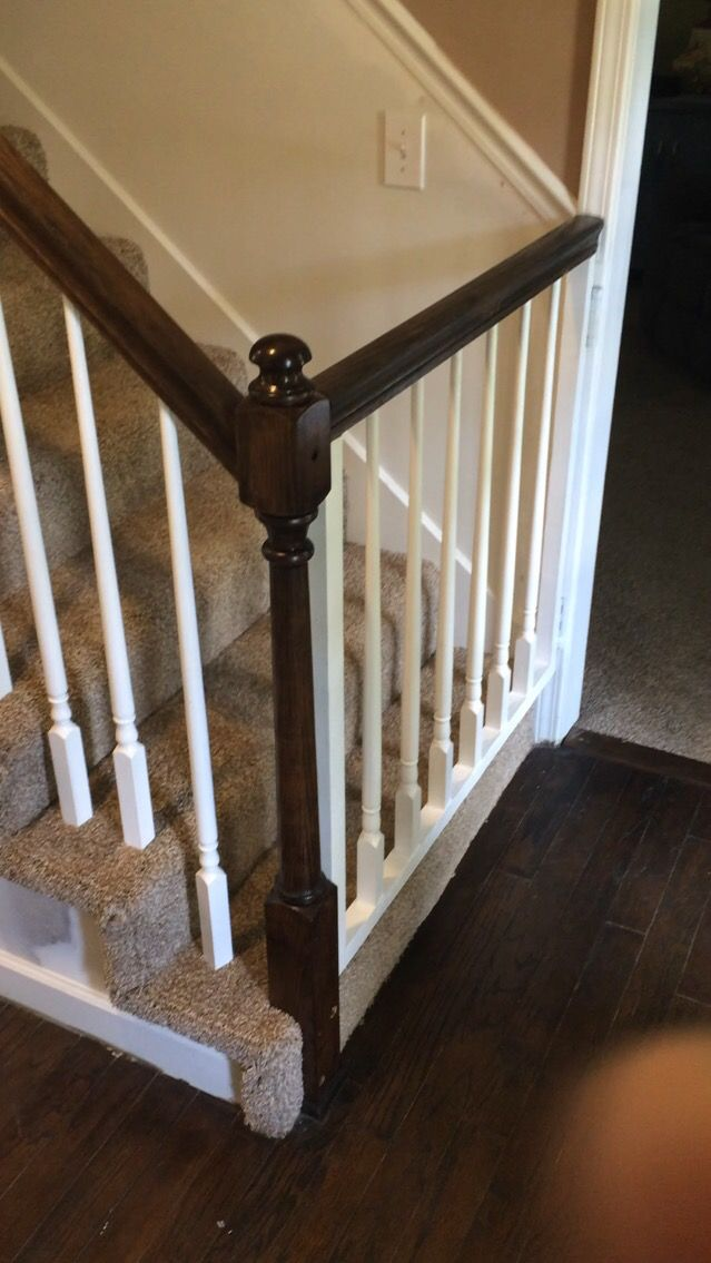 Baby gate to match bannister. Spring hinge and latch