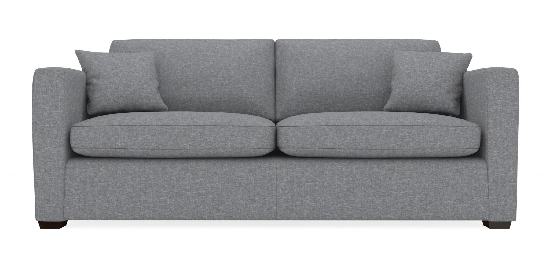 Grey Sofas Uk Next Buy Wentworth Large Sofa 3 Seats Versatile Plain Mid Grey Block
