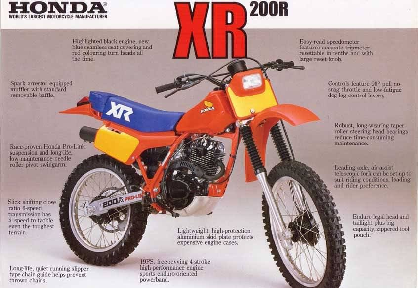 Honda Xr200r 83 Honda Motorcycles Honda Bikes Vintage Honda Motorcycles