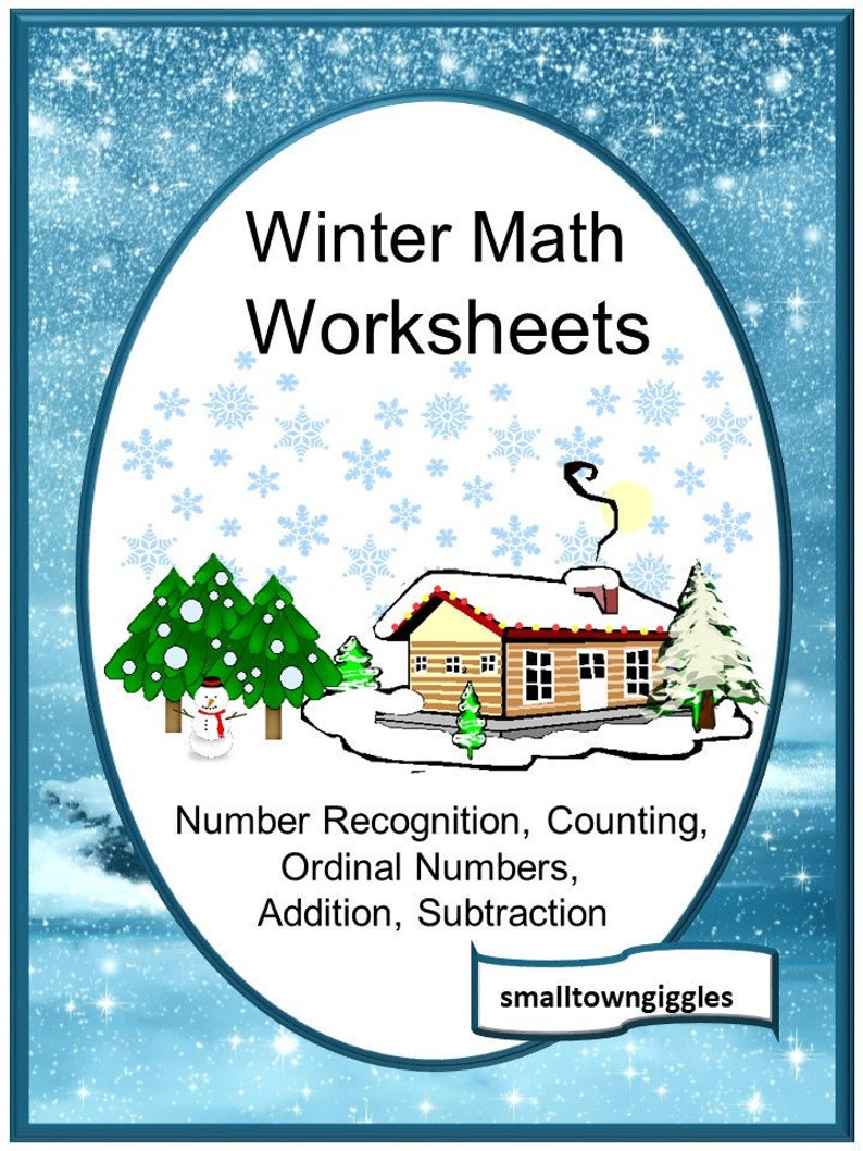 Winter Math Worksheets Distance Learning Digital Download Etsy In 2020 Winter Math Worksheets Winter Math Special Education [ 1059 x 794 Pixel ]