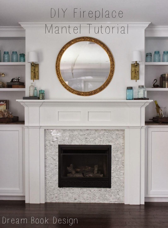 Diy fireplace mantel tutorial basement remodel cost diy