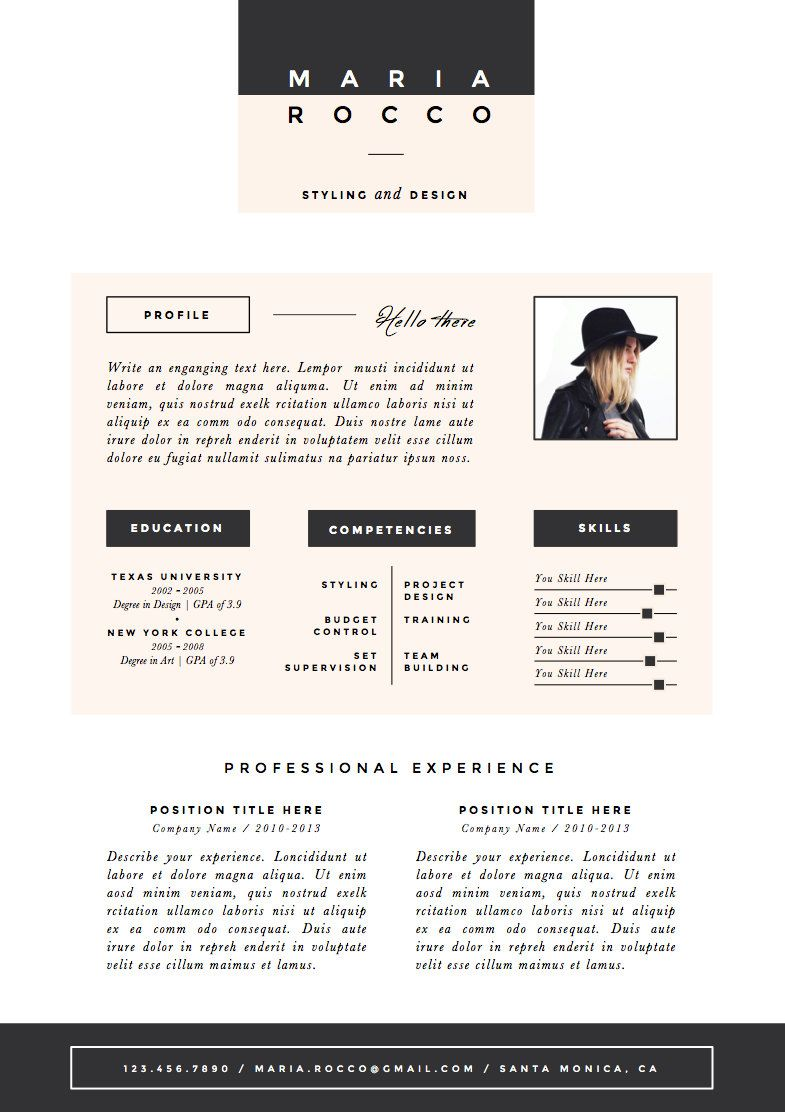 Pk Resume  Cv Template Cover Letter For Door Theresumeboutique
