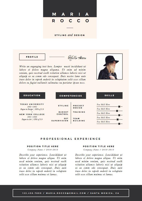 3pk Resume / CV Template + Cover Letter for MS Word | Instant ...