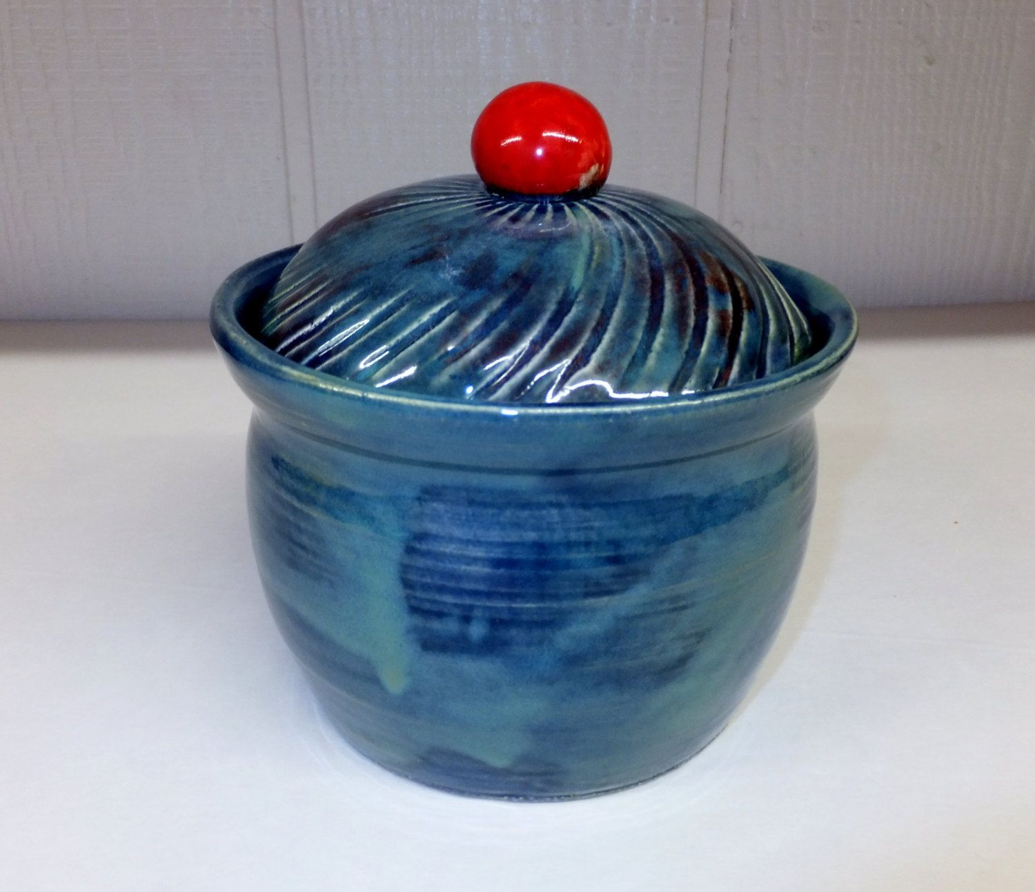 What\'s better than an ocean with a cherry on top! Ocean Blue Ceramic ...