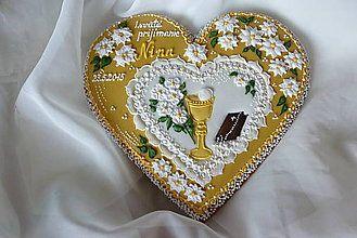 Dekorácie - Medovníkove srdce veľké - 5455215_