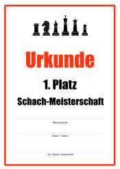 Urkunde Schach-Meisterschaft | Urkunden-Sport | Urkunden | Pinterest
