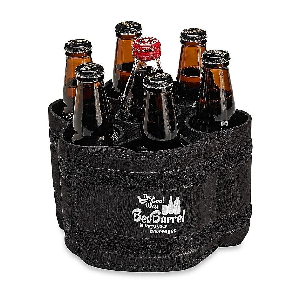 Bevbarrel Portable Beverage Carrier In Black Drink
