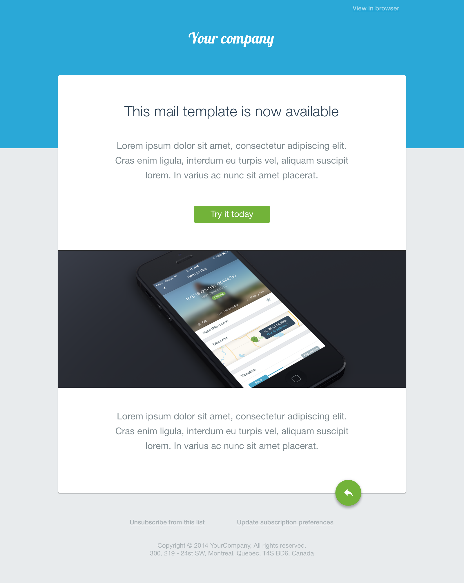 Simple material Sketch mail template by AureTech on