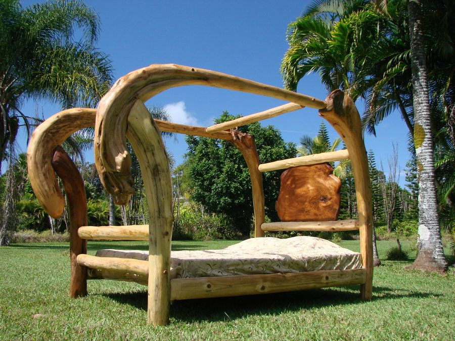 driftwood bed driftwood canopy bed by jeffro lumberjockscom woodworking - Driftwood Bed Frame