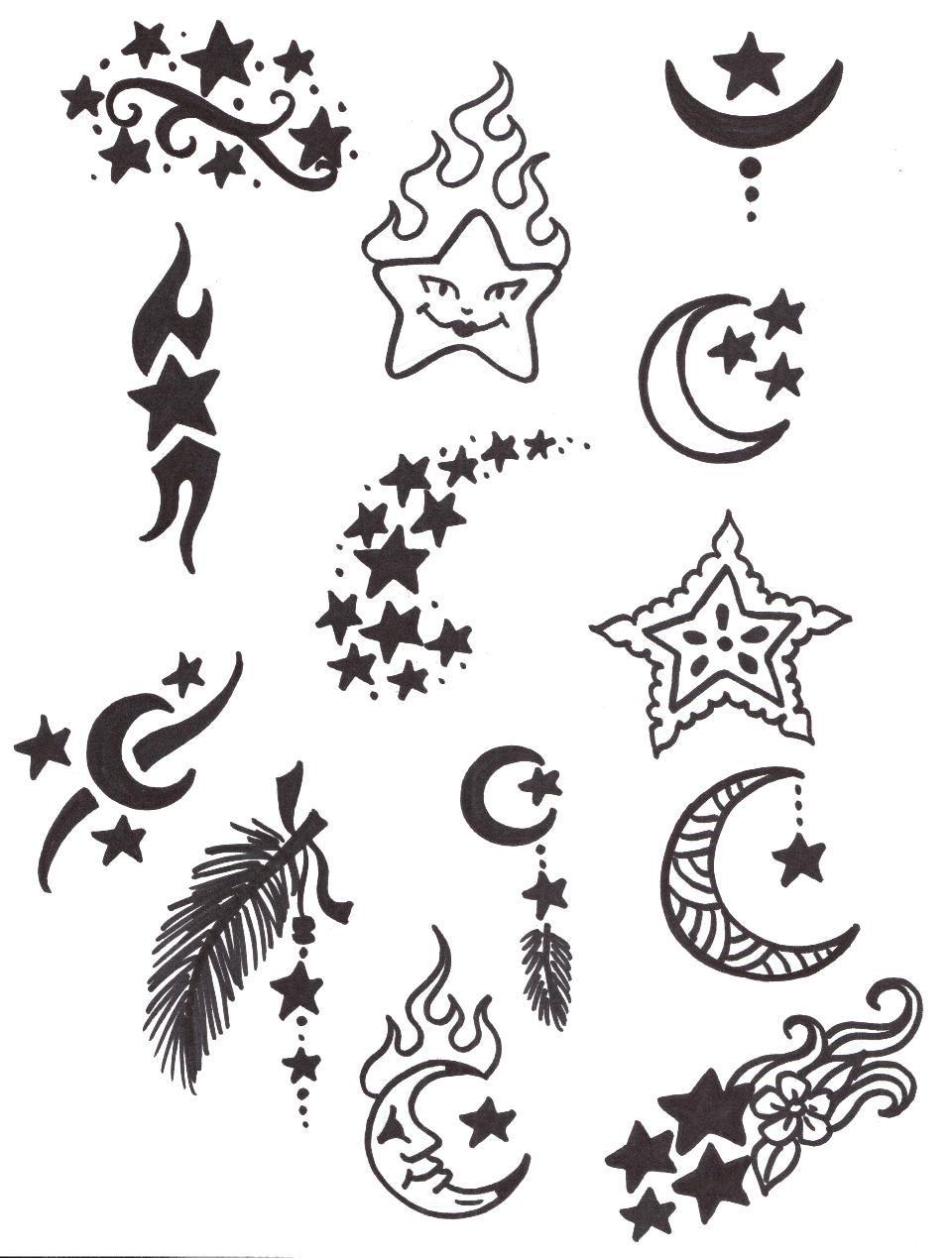 Cat Moon Tattoo Google Search Disenos Henna Para Principiantes Disenos De Henna Sencillos Tatuajes De Henna Sencillos