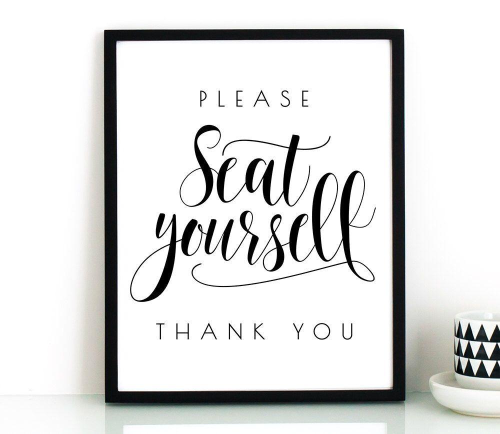 Bathroom wall art printables - Funny Bathroom Wall Art Printable Please Seat Yourself Sign Bathroom Art Printable Decor