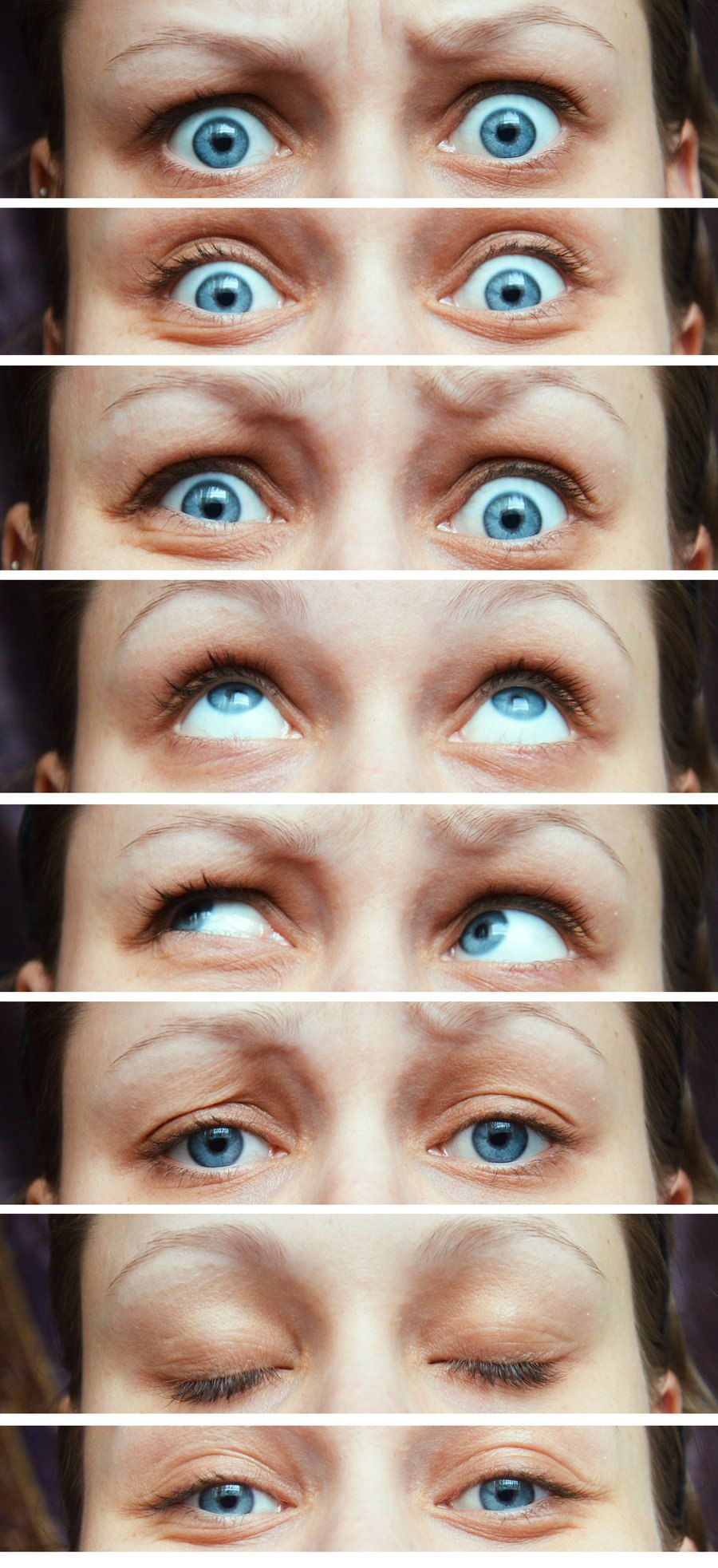Different Eye Positions And Expressions