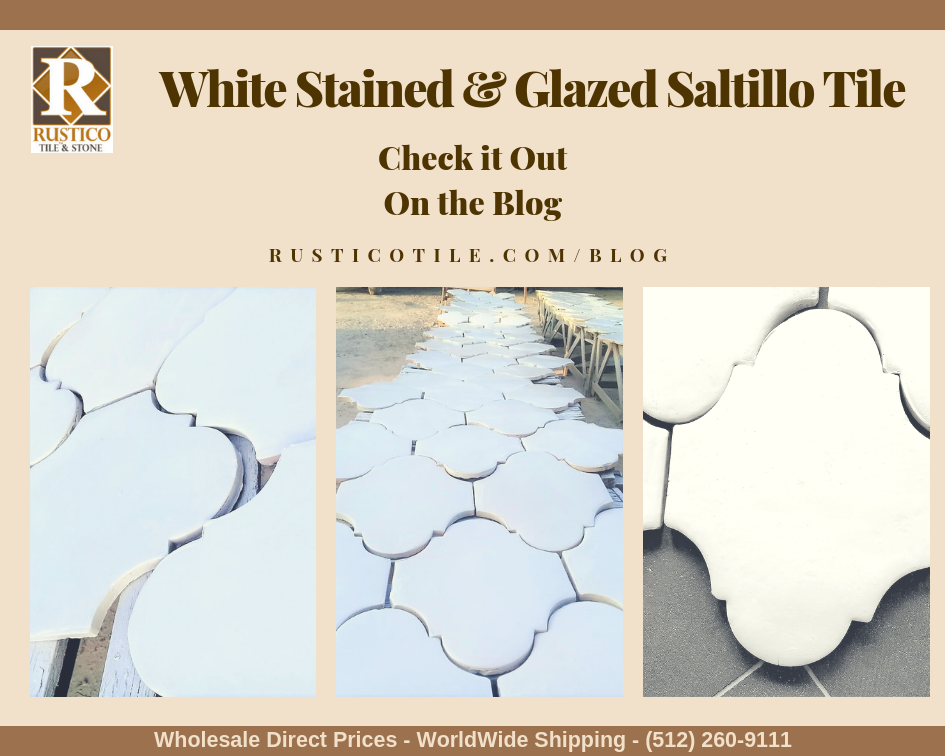Glazed Saltillo Stained Mexican Tile