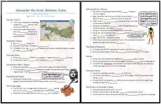 Alexander The Great Powerpoint And Worksheet Middle School