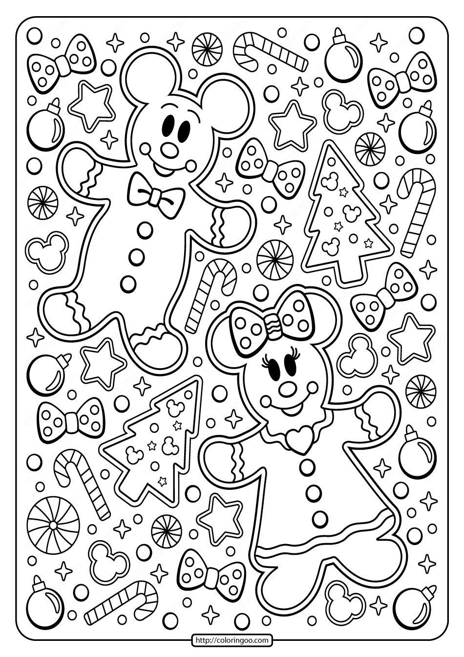 Mickey Minnie Mouse Holiday Coloring Page Kids Christmas Coloring Pages Mickey Mouse Coloring Pages Christmas Coloring Pages
