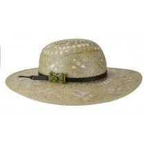 Chapéu em lhama com detalhe em couro e pingente de pedra verde   chapeudepalha  chapeudepraia  praia  chapeu 24915930146
