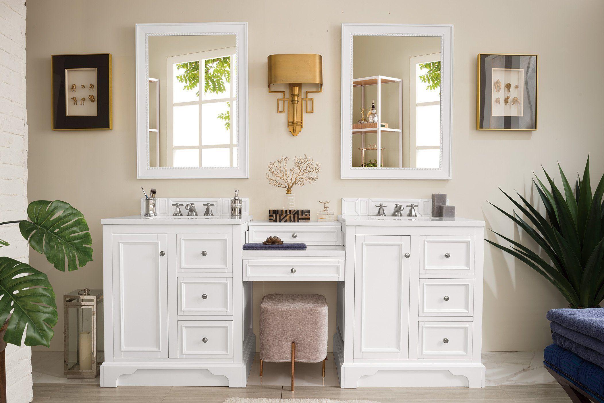 "De Soto 82"" Double Bathroom Vanity Bathroom with makeup"