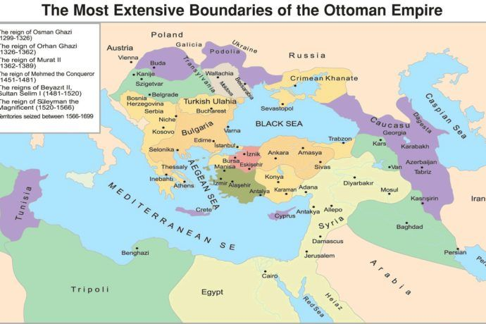 Ottoman Empire Map At Its Height Over Time Timeline History Of