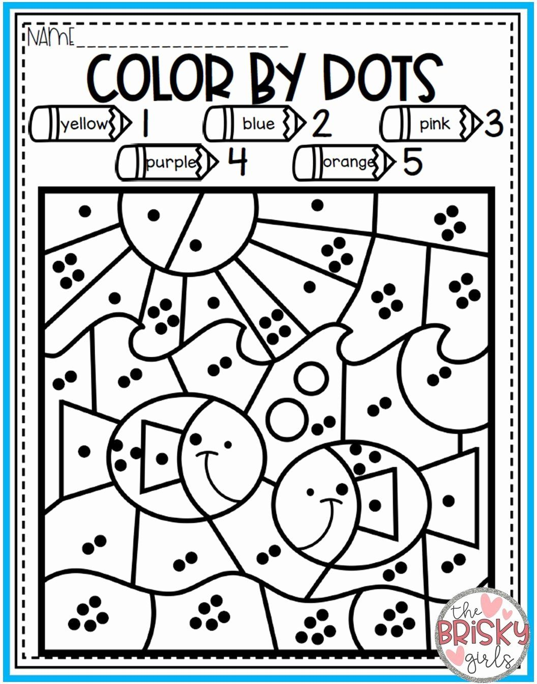 Spring Math Coloring Sheets In