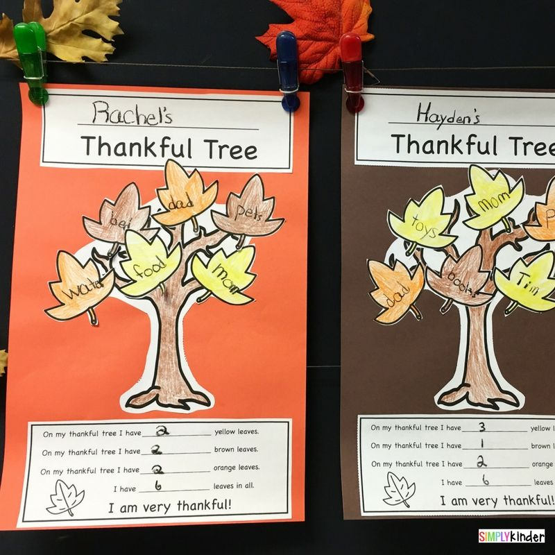 Our Thankful Trees