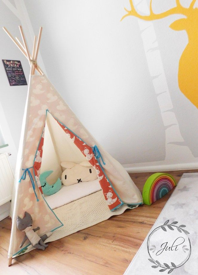 kinder tipi n hen freebook anleitung juli n ht german blogger diy pinterest tipi. Black Bedroom Furniture Sets. Home Design Ideas