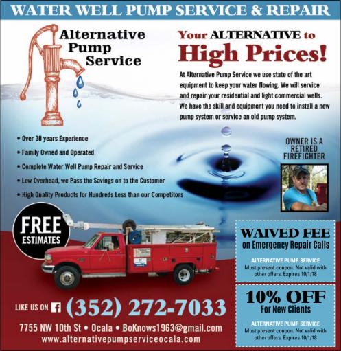 Alternative Water Pump Service Well Pump Repair Well Pump Water Well
