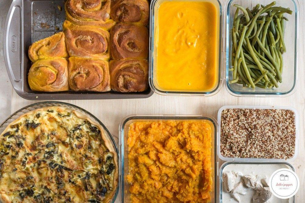 Batch cooking d'automne : menu du 7 au 10 octobre et recettes - Sab'n'Pepper