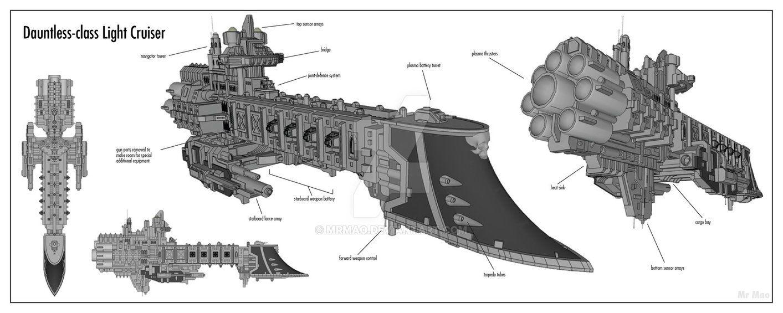 3d Model Of An Dauntless Class Light Cruiser Acting As An