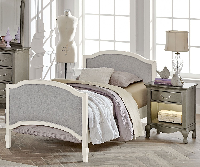 White Kids Furniture Schickes schlafzimmer, Schwarze