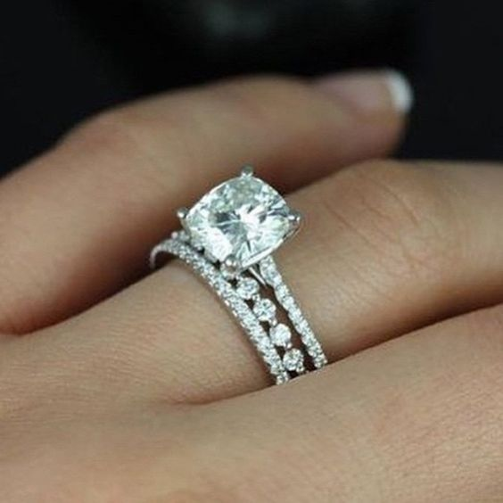 new best ring ideas match awesome halo of engagement to bands rings wedding for band