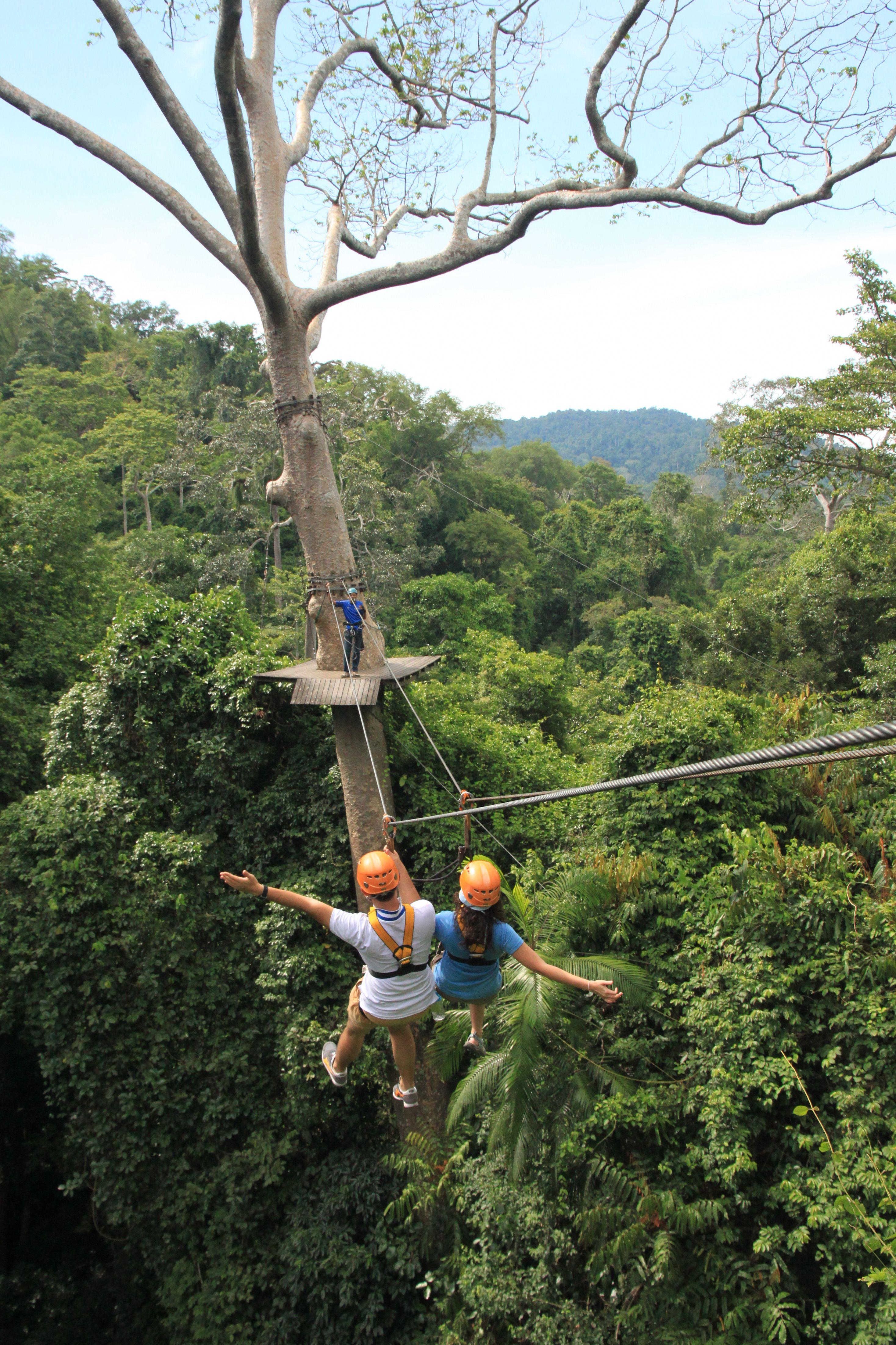 The Closest Zipline Canopy Tour To Bangkok Or Pattaya Ziplining Exploring Adventure Adventure Travel