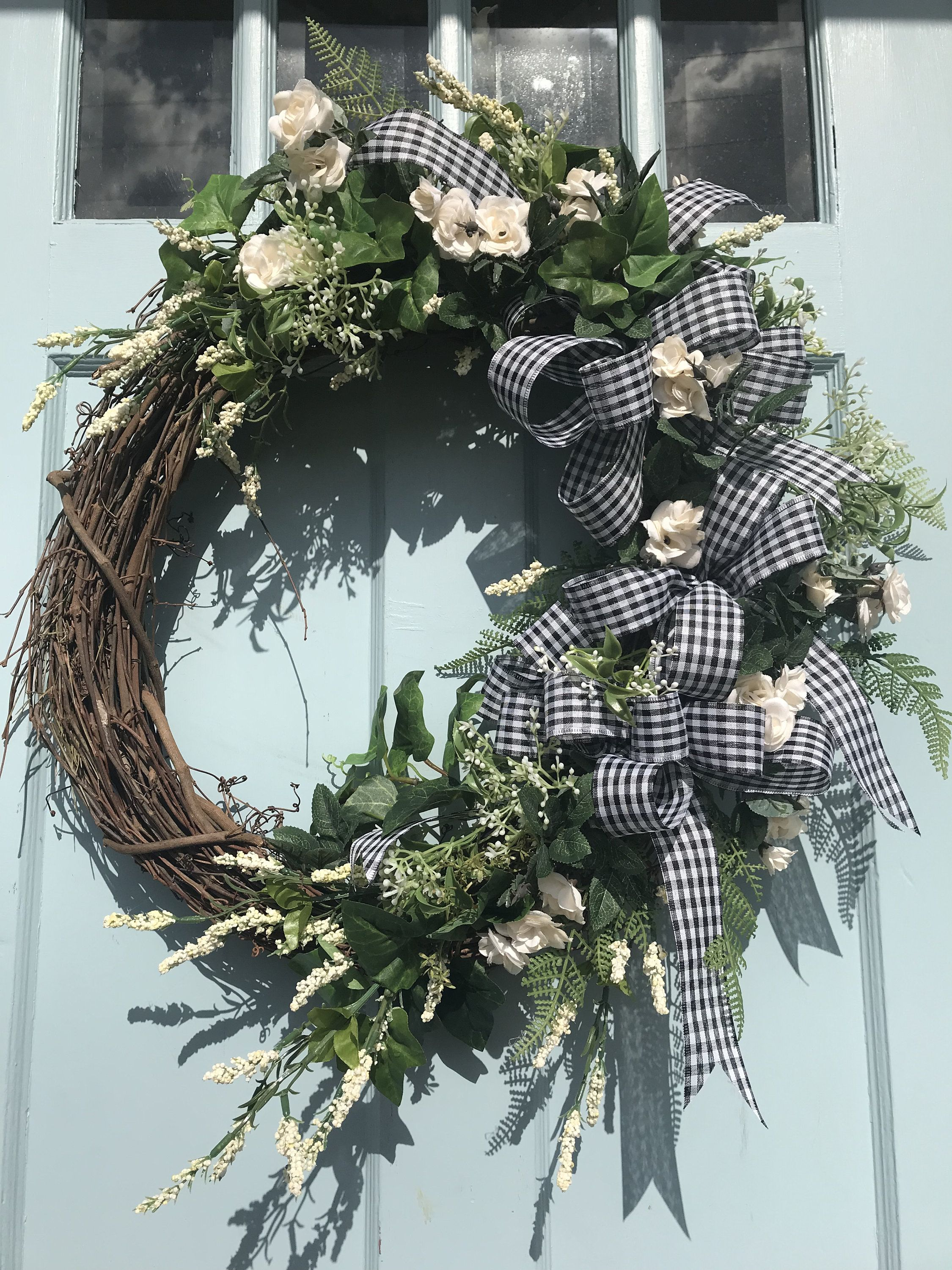 Beautifully Elegant White Floral Grapevine Wreath For Door Wreaths Wreaths For Front Door Farmhouse Christmas Floral Grapevine Wreaths For Front Door Grapevine Wreath
