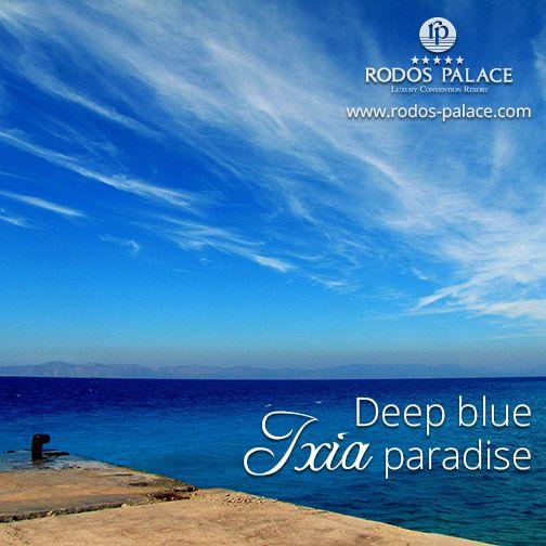 Ixia beach... An endless deep blue paradise... Visit Rhodes! #Rodos #Rhodes #mediterranean #hotel #5star #luxury #Greece