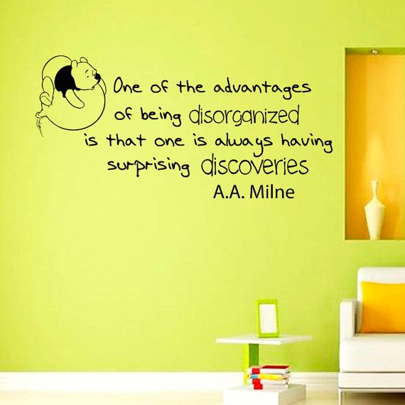 Wall Decals Quote Decal One of the advantages Winnie The Pooh ...