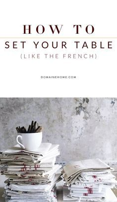 6 steps for setting a table in a manner that looks both chic and effortless.  sc 1 st  Pinterest : setting the table book - pezcame.com