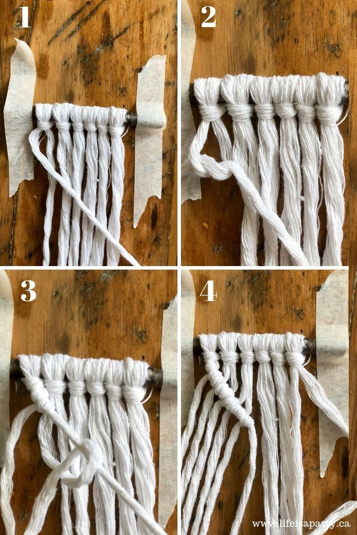 Mini Macrame Christmas Ornaments: Easy DIY Macrame Ornament tutorial, perfect for the beginner. No macrame experience required. Macramé, macramé knots, macram