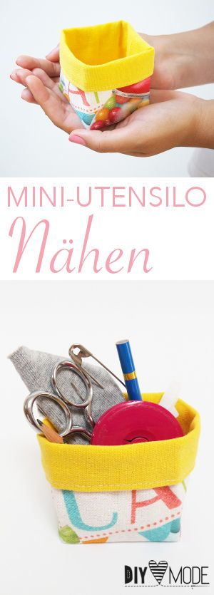 Photo of Mini-Utensilo nähen / DIY MODE Nähanleitung und Schnittmuster