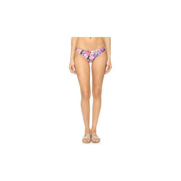 Wildfox Fairy Wall Bikini Bottoms ($62) ❤ liked on Polyvore featuring swimwear, bikinis and bikini bottoms