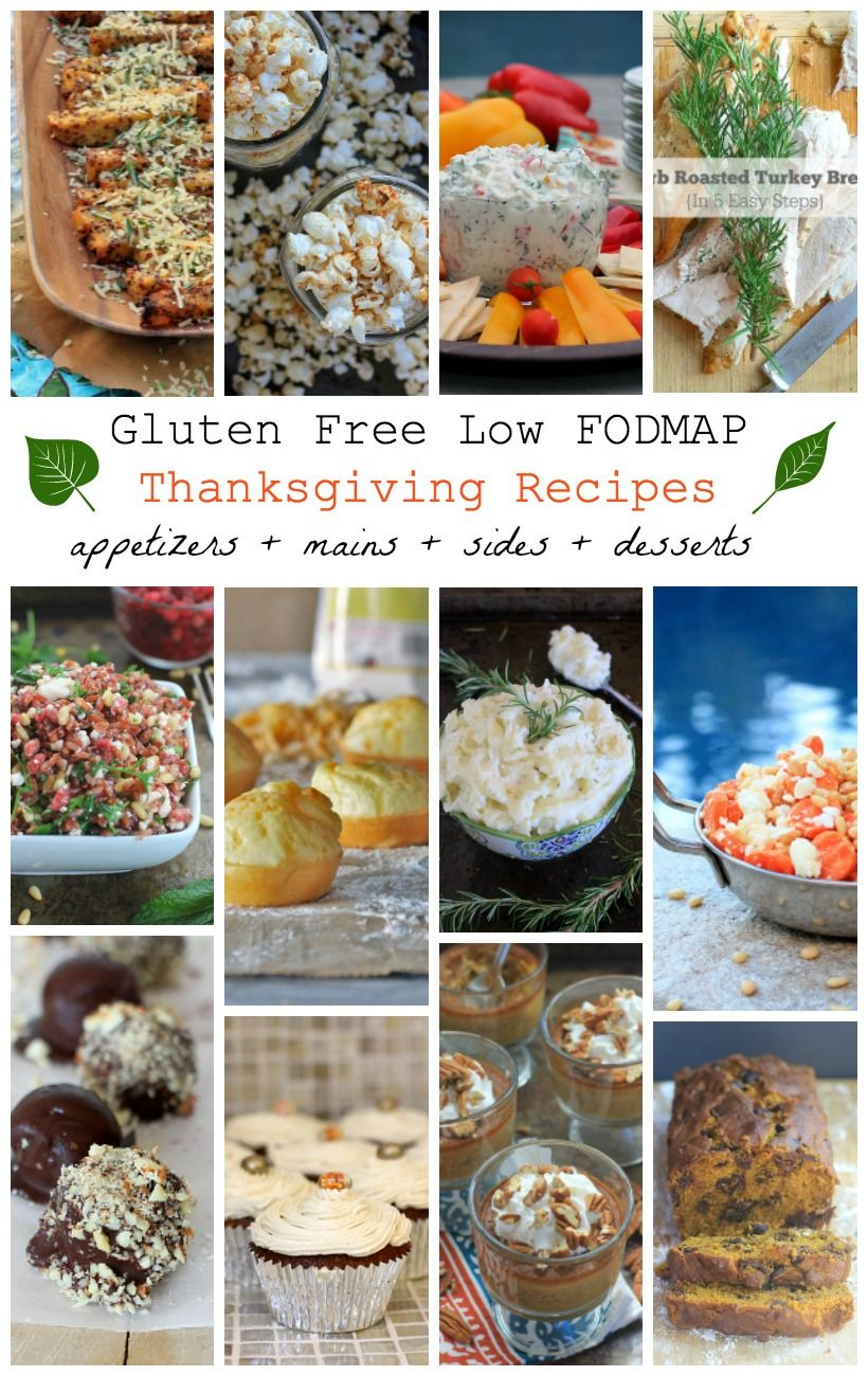 Gluten Free, Low FODMAP Thanksgiving Recipes Everyone Will Love! #thanksgivingfood