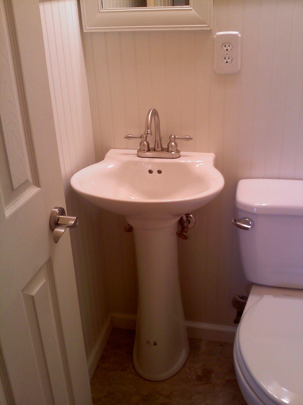 Half Bathroom Remodel for Under $1000   Half bathroom ...