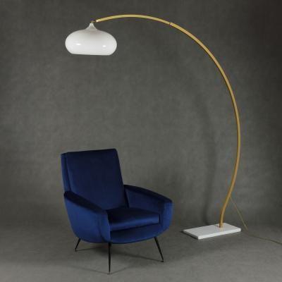 Vintage Italian Marble Arc Lamp